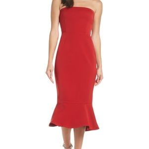 BB Dakota Strapless Red Dress